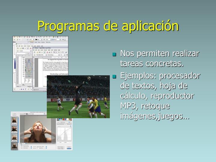 Programas de aplicaci