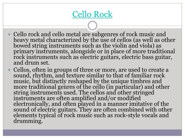 Cello Rock