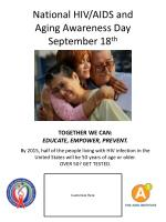 national hiv aids and aging awareness day september 18 th1