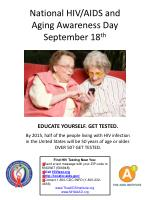 national hiv aids and aging awareness day september 18 th6
