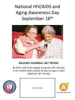 national hiv aids and aging awareness day september 18 th7