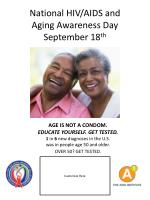 national hiv aids and aging awareness day september 18 th9