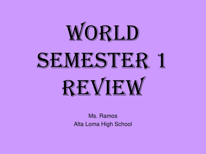 world semester 1 review n.