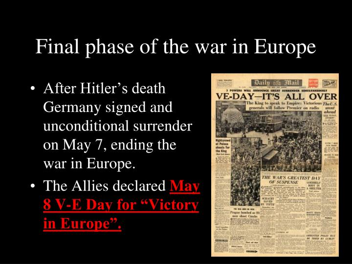 Final phase of the war in Europe