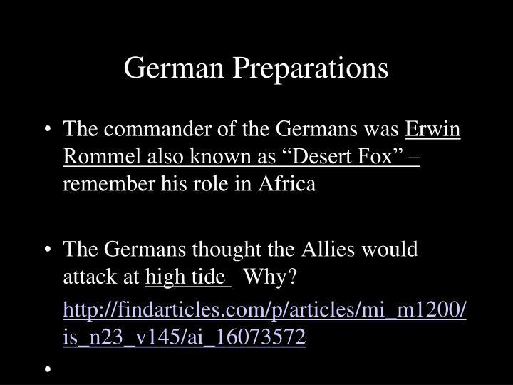 German Preparations