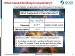 what caused the baryon asymmetry