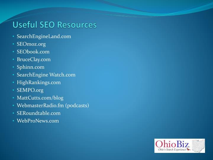 Useful SEO Resources