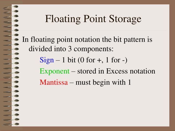 Floating Point Storage