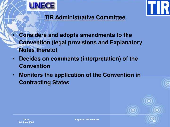 TIR Administrative Committee