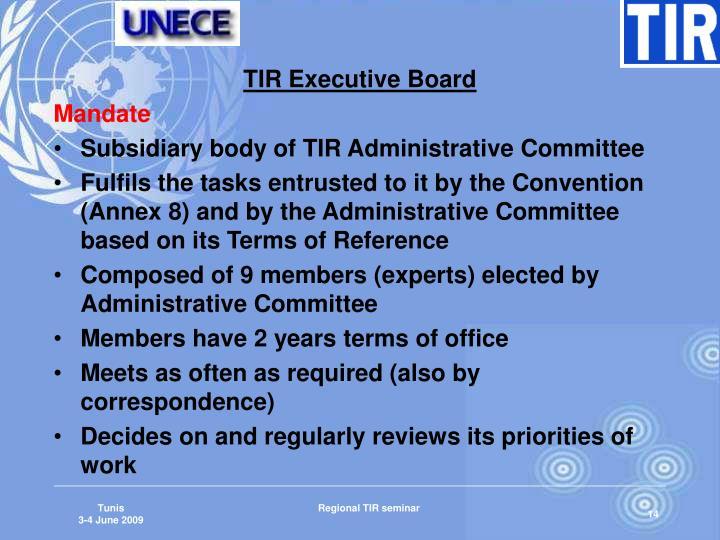 TIR Executive Board