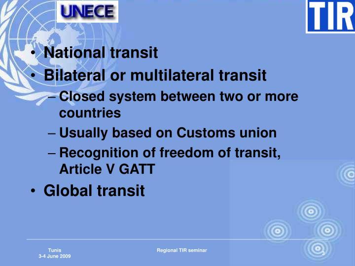 National transit