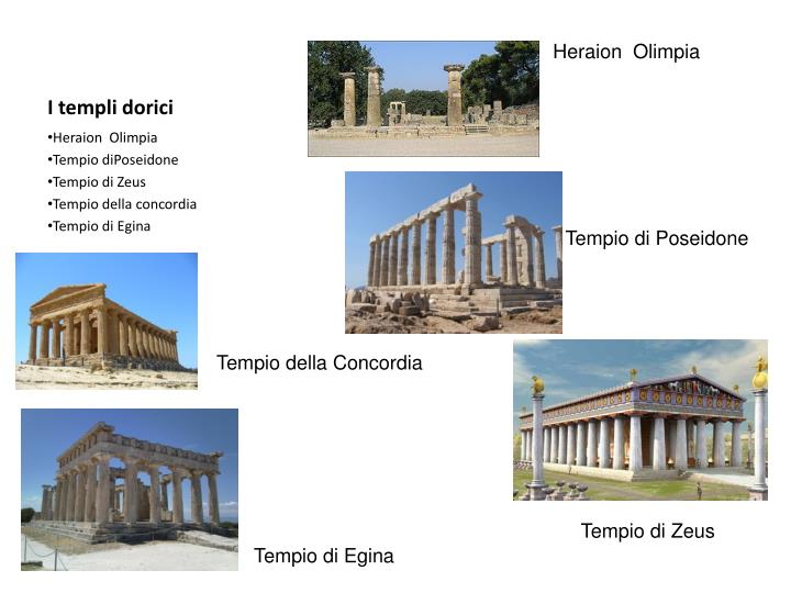 I templi dorici