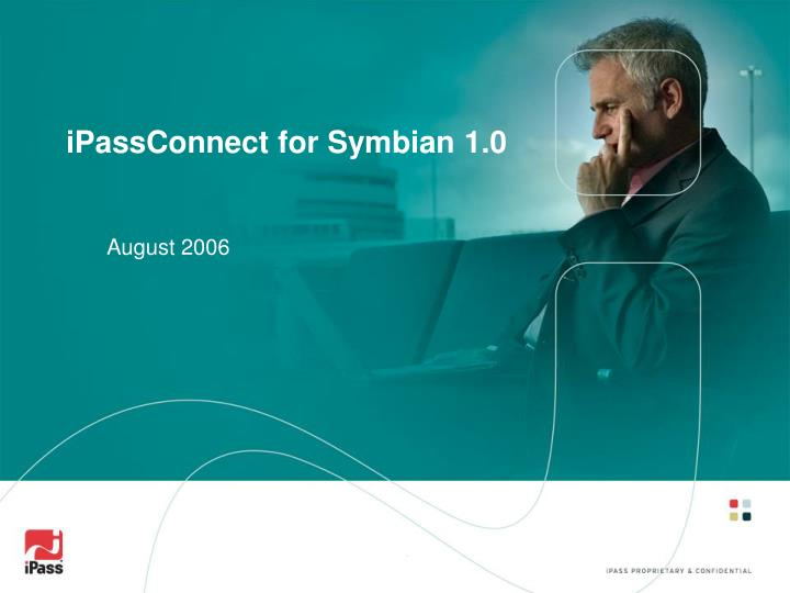 Ipassconnect for symbian 1 0