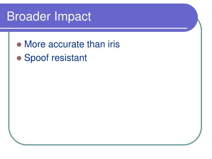 Broader Impact