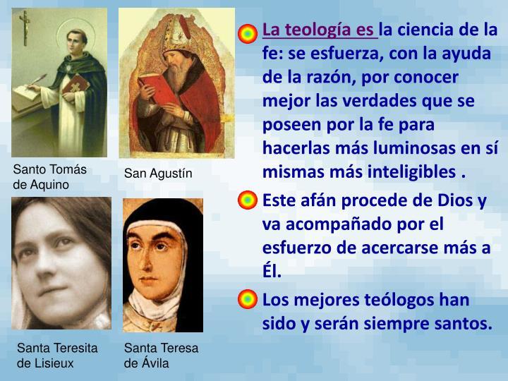 La teología es