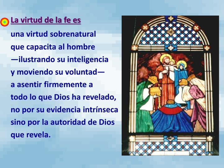 La virtud de la fe es
