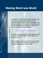 making work less work