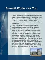 summit works for you