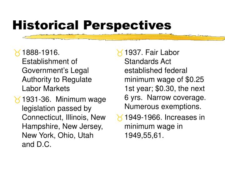 1888-1916.  Establishment of Government's Legal Authority to Regulate Labor Markets