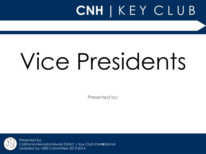 Vice presidents