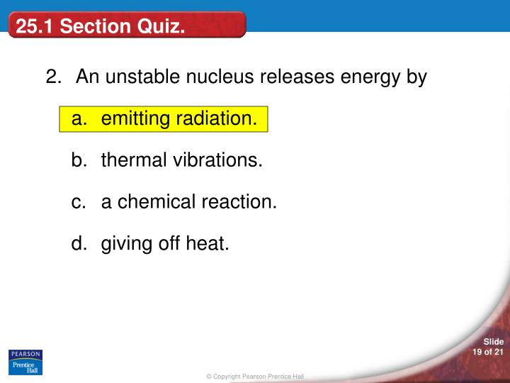 25.1 Section Quiz.