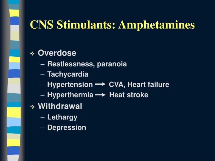 CNS Stimulants: Amphetamines