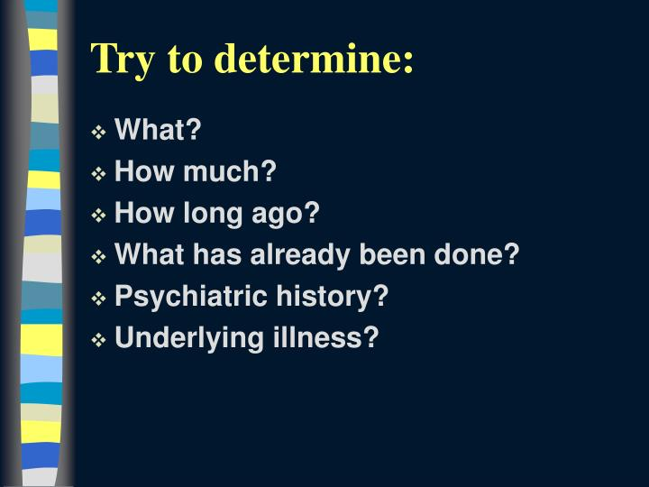 Try to determine: