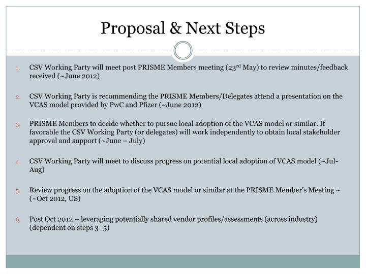 Proposal & Next Steps