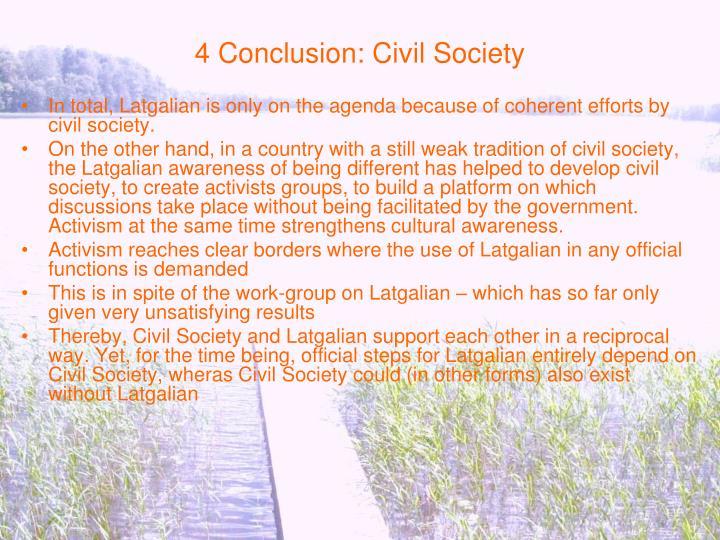 4 Conclusion: Civil Society