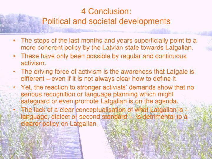 4 Conclusion: