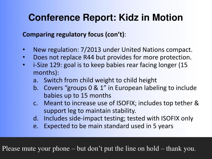 Comparing regulatory focus (