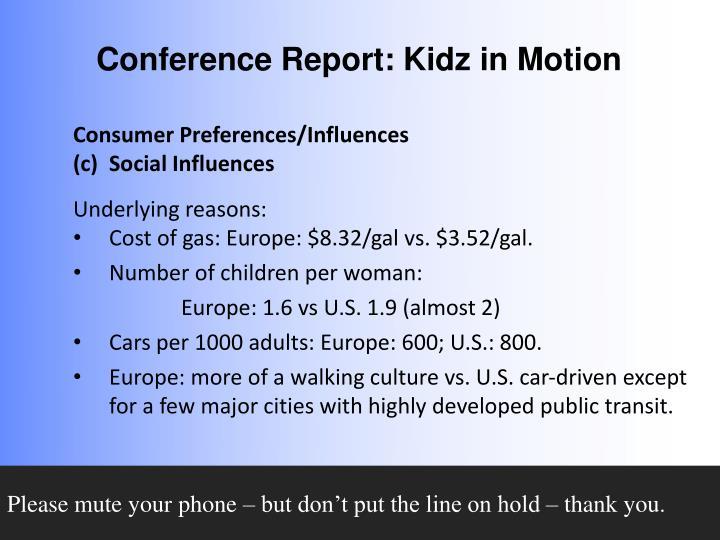 Consumer Preferences/Influences