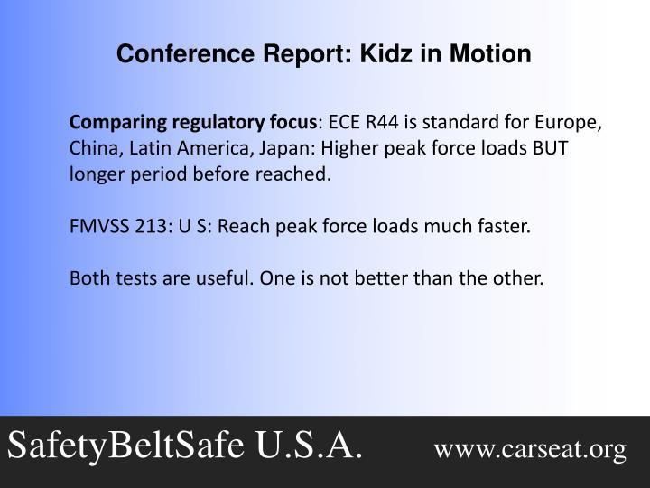 Comparing regulatory focus