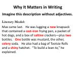 why it matters in writing1