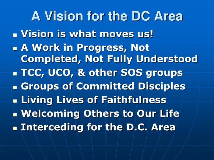a vision for the dc area n.