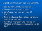 question who s in the dc district