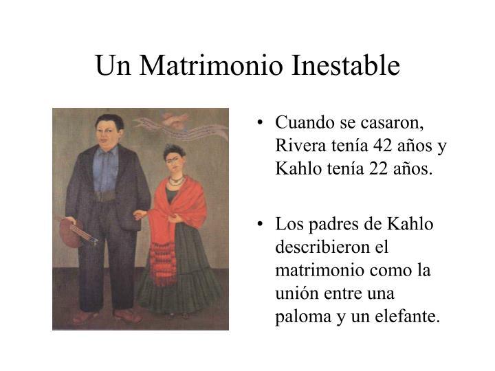 Un Matrimonio Inestable