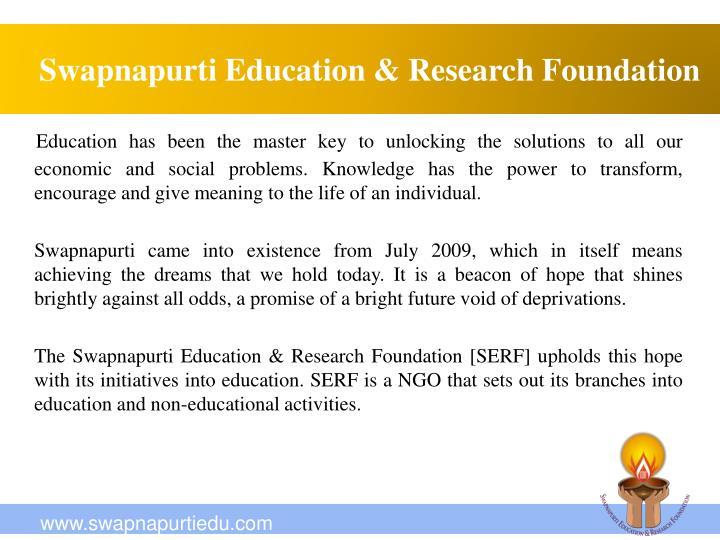 Swapnapurti education research foundation