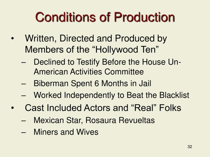 Conditions of Production