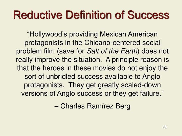 Reductive Definition of Success