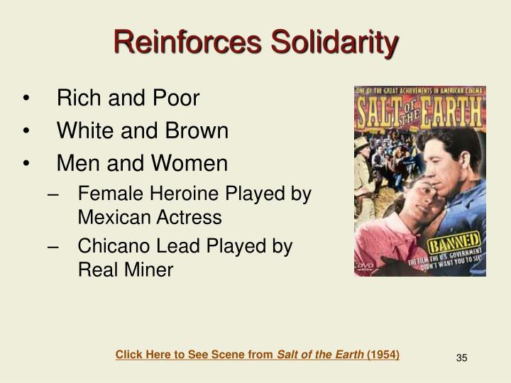 Reinforces Solidarity