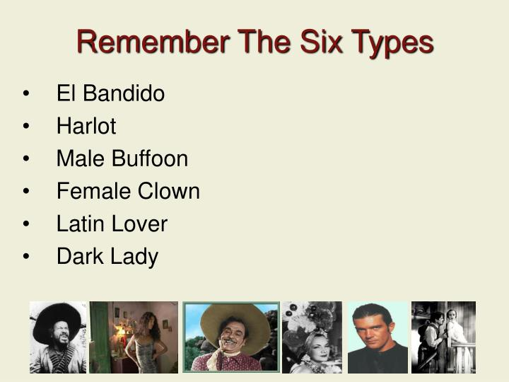 Remember The Six Types
