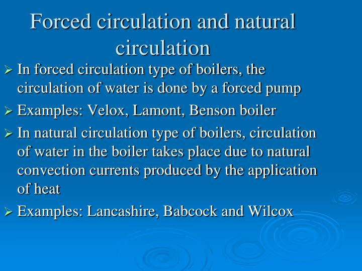 Forced circulation and natural circulation