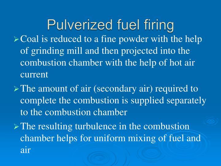Pulverized fuel firing