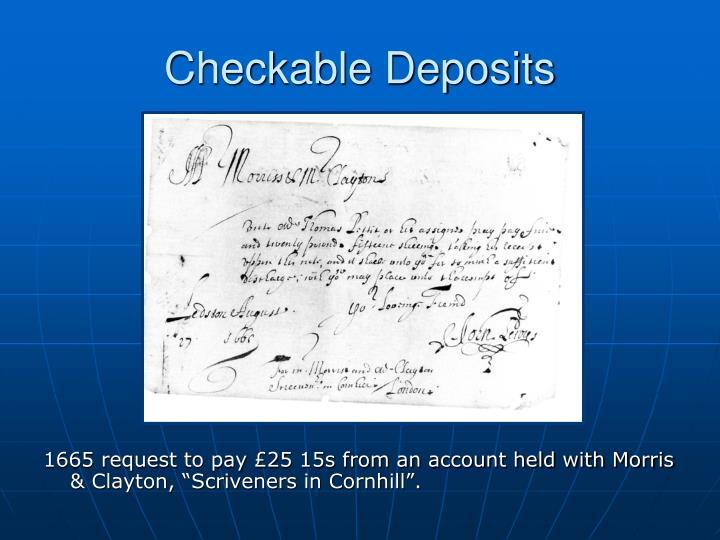 Checkable Deposits