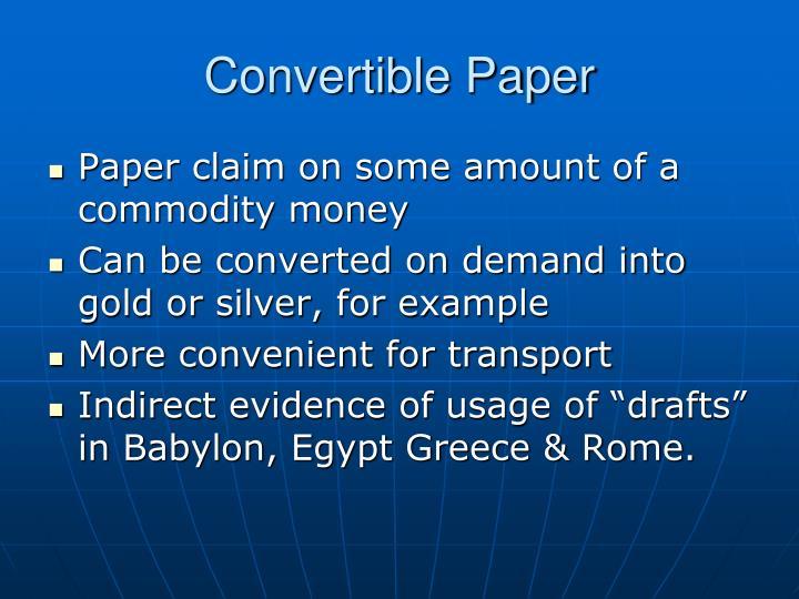 Convertible Paper