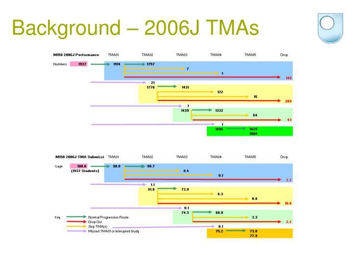 Background – 2006J TMAs