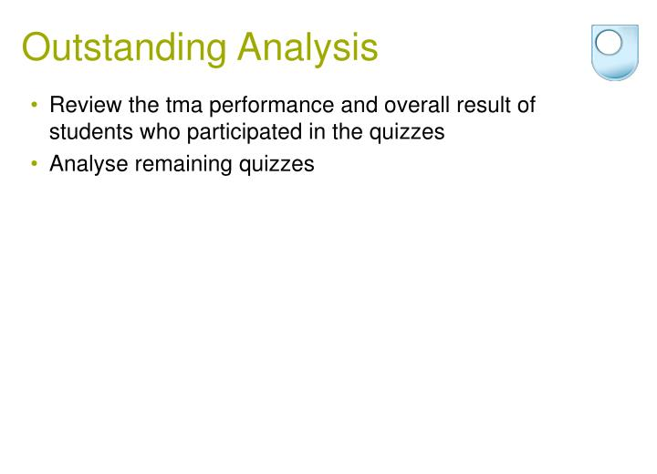 Outstanding Analysis
