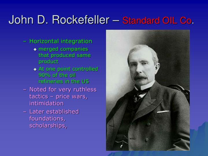 John d rockefeller standard oil co