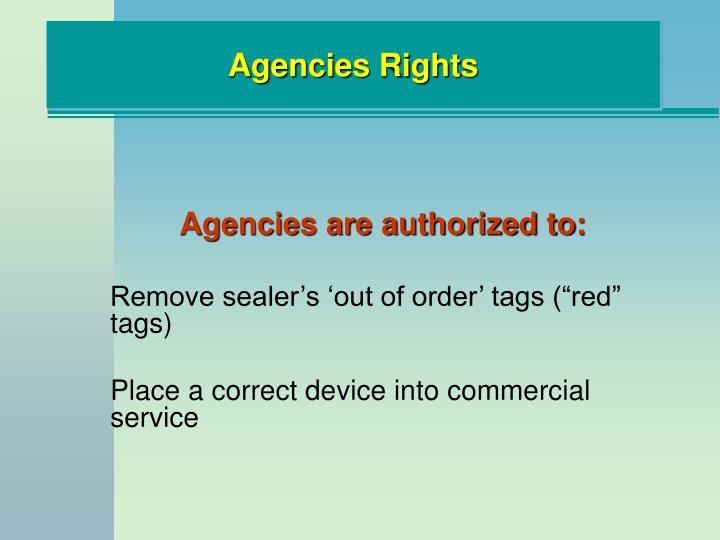 Agencies Rights